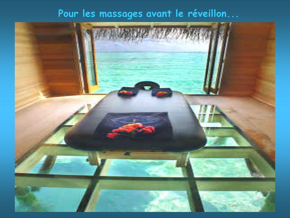 Pour les massages avant le réveillon...