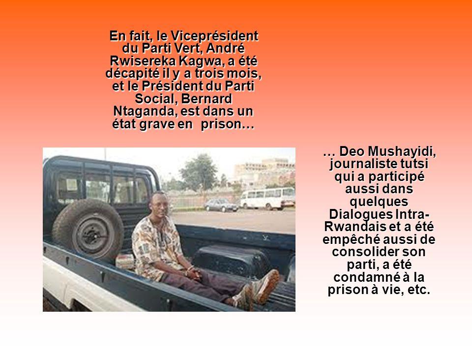 Mais cétait trop audace pour le dictateur Kagame. Depuis ce moment- là, la sort de cette heroïne fut, comme la prix nobel birmane Aung San Suu Kyi, la