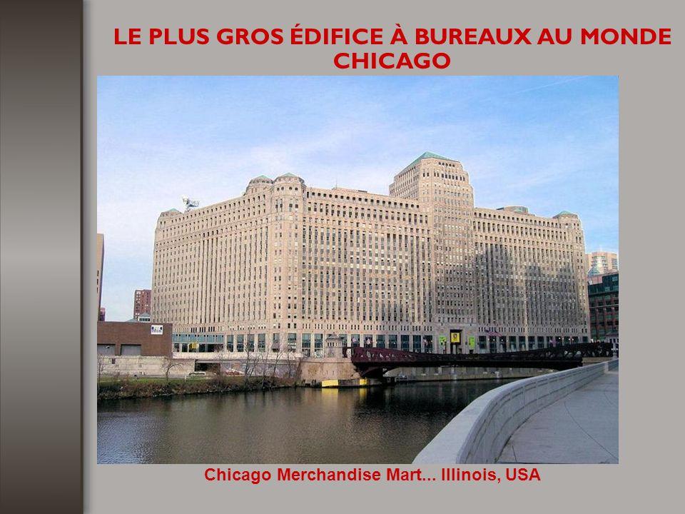 LE PLUS GROS ÉDIFICE À BUREAUX AU MONDE CHICAGO