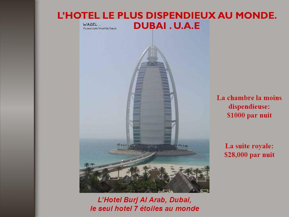 LHOTEL LE PLUS DISPENDIEUX AU MONDE.DUBAI.