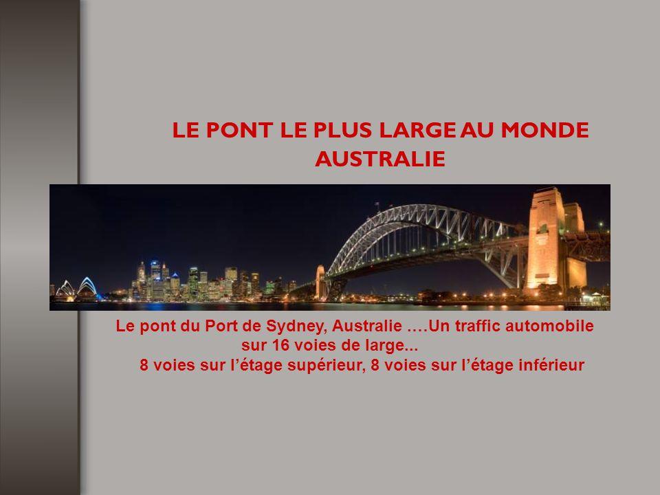 LE PONT LE PLUS LARGE AU MONDE AUSTRALIE