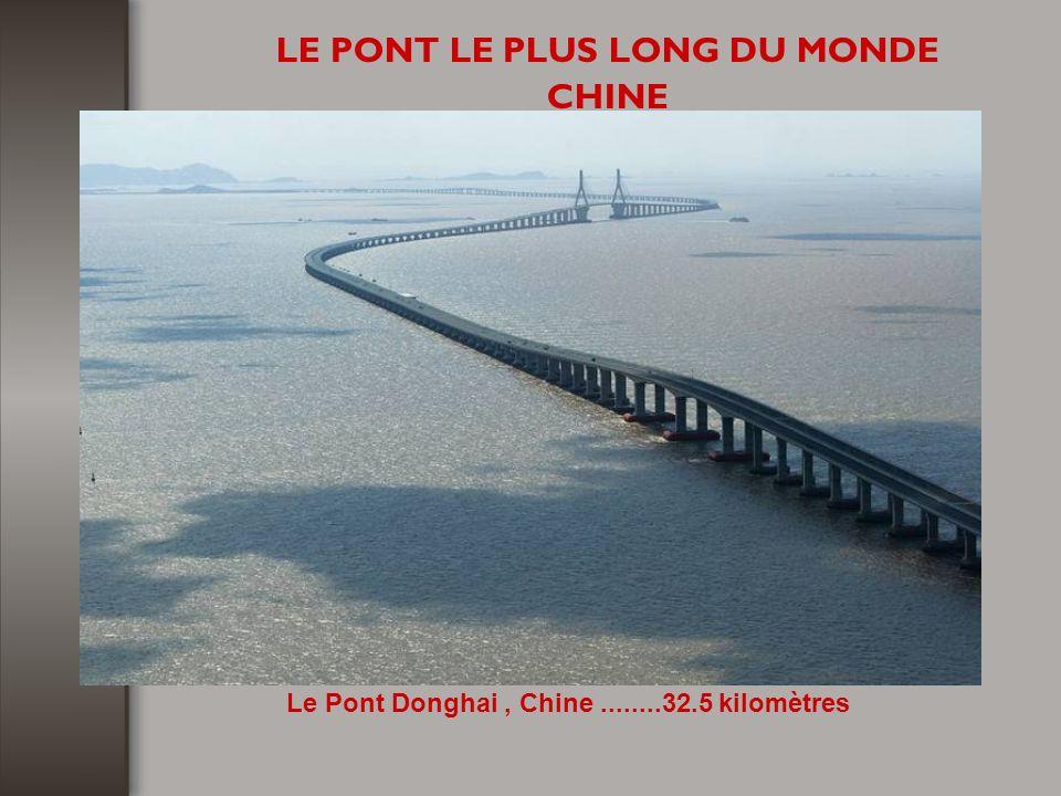 LE PONT LE PLUS LONG DU MONDE CHINE