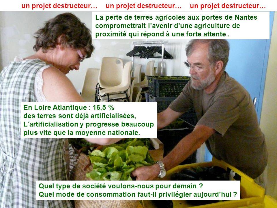 21 La perte de terres agricoles aux portes de Nantes compromettrait lavenir d'une agriculture de proximité qui répond à une forte attente. Quel type d