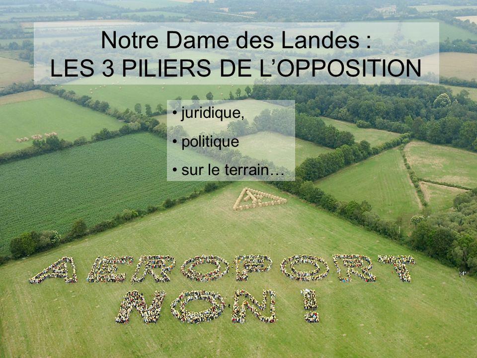 Notre Dame des Landes : LES 3 PILIERS DE LOPPOSITION juridique, politique sur le terrain…