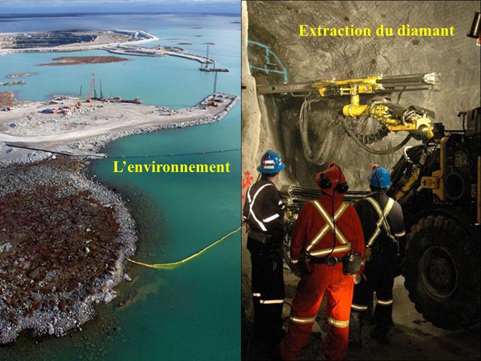 Lextraction du diamant dans les profondeurs de la mine.