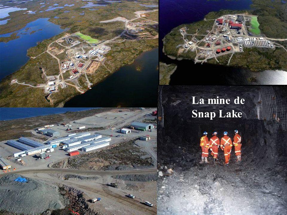 Une autre forme de diamants de la mine Diavik.