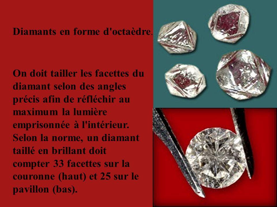 Les diamants canadiens ont des formes différentes.