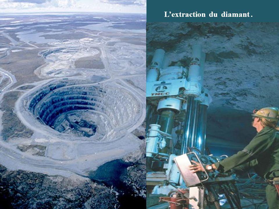 Lextraction du diamant.