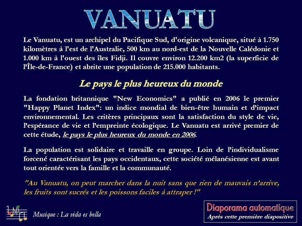 Le Vanuatu, est un archipel du Pacifique Sud, d origine volcanique, situé à 1.750 kilomètres à l est de l Australie, 500 km au nord-est de la Nouvelle Calédonie et 1.000 km à l ouest des îles Fidji.