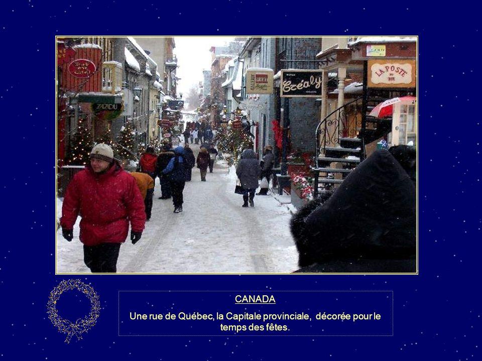 CANADA Les décorations de Noël illuminent le centre-ville de Montréal et crée une belle ambiance pour les amoureux du temps des Fêtes.