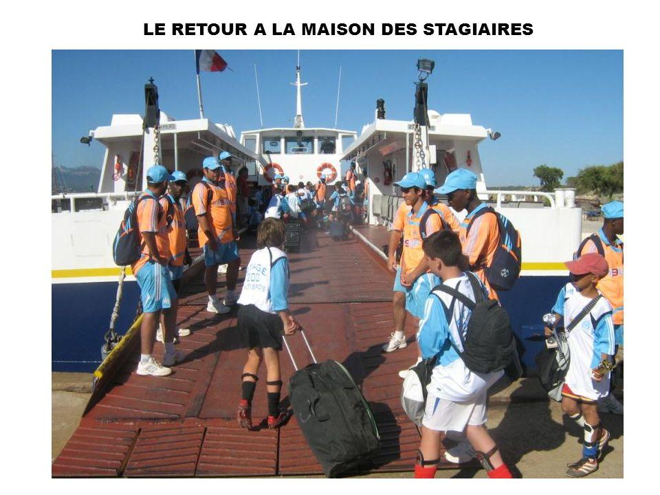 LE RETOUR A LA MAISON DES STAGIAIRES