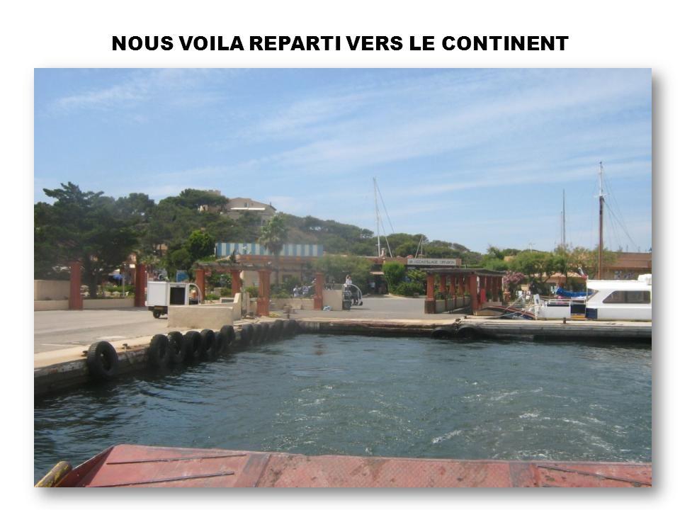 NOUS VOILA REPARTI VERS LE CONTINENT