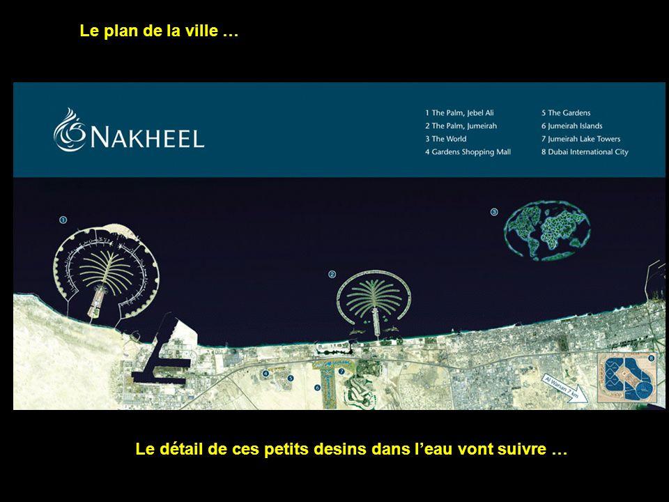 Le plan de la ville … Le détail de ces petits desins dans leau vont suivre …