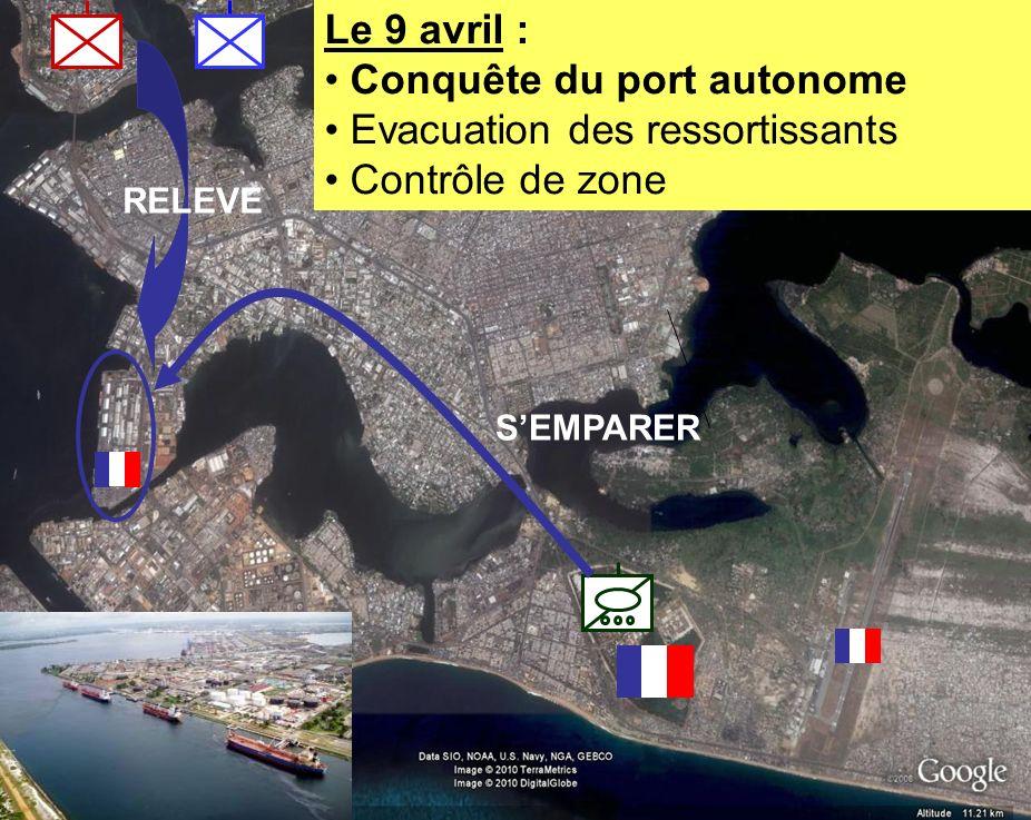 BATAILLON L ICORNEMANDAT XXV 11 RELEVE Le 9 avril : Conquête du port autonome Evacuation des ressortissants Contrôle de zone SEMPARER