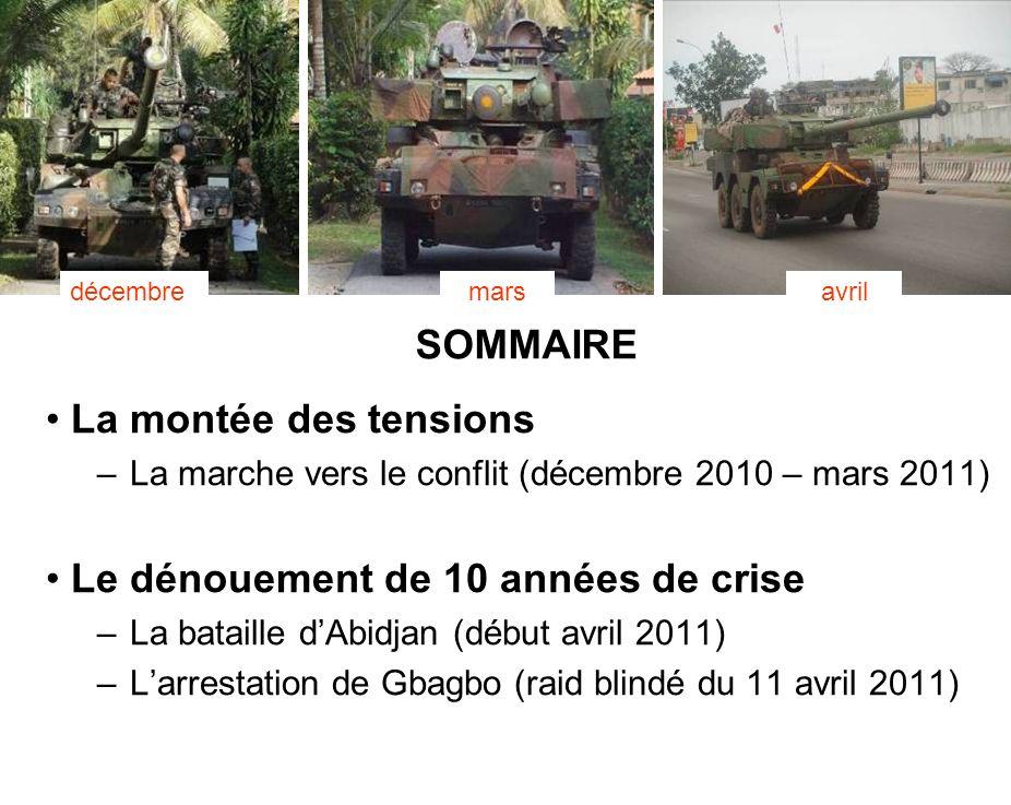 BATAILLON L ICORNEMANDAT XXV 2 SOMMAIRE La montée des tensions –La marche vers le conflit (décembre 2010 – mars 2011) Le dénouement de 10 années de cr