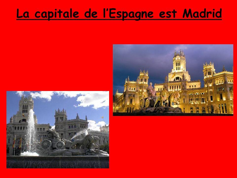 La capitale de lEspagne est Madrid