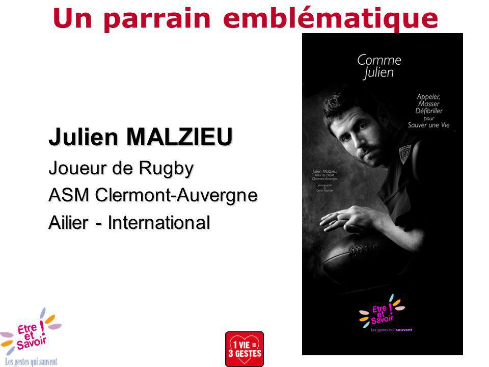Un parrain emblématique Julien MALZIEU Joueur de Rugby ASM Clermont-Auvergne Ailier - International