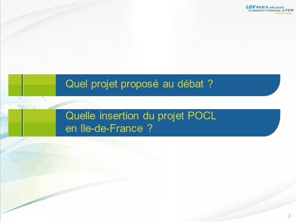 2 Quel projet proposé au débat ? Quelle insertion du projet POCL en Ile-de-France ?