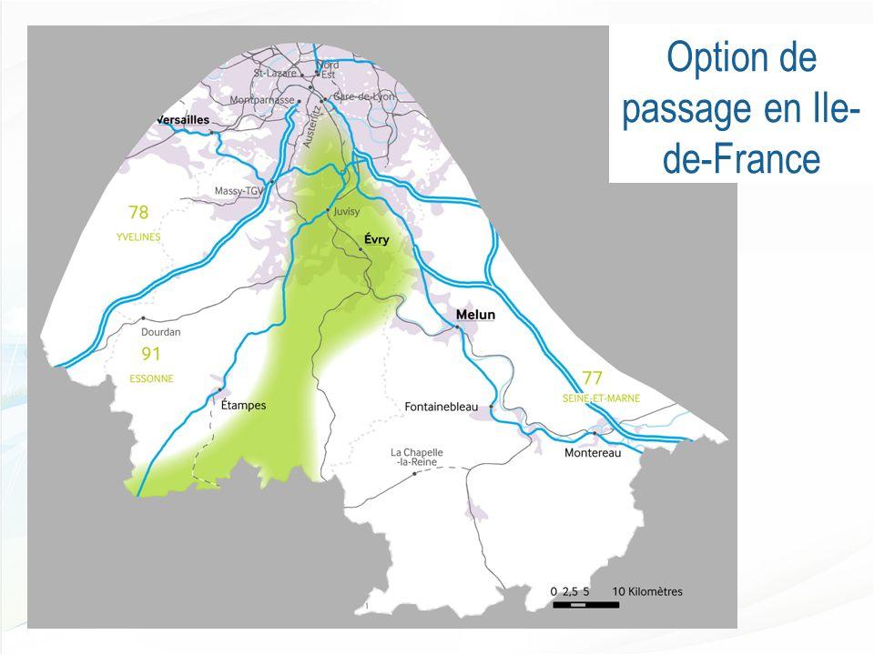 Option de passage en Ile- de-France