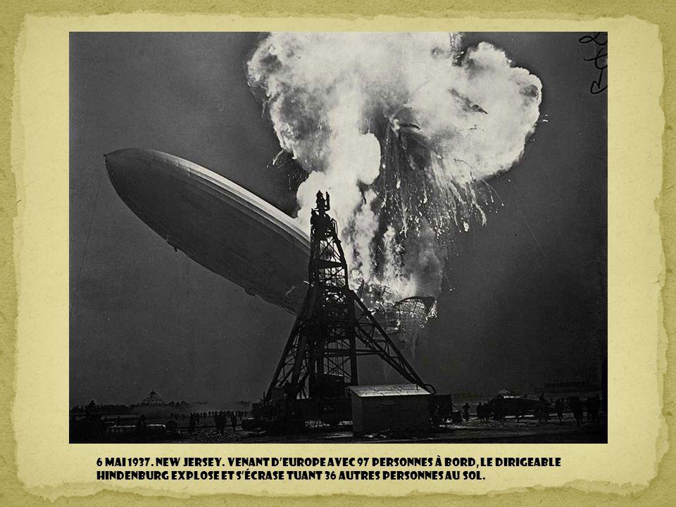 26 avril 1937. Espagne. L'aviation nazie à l'appui de Franco, bombarde et rase la ville de Guernica, tuant des dizaines de civils.