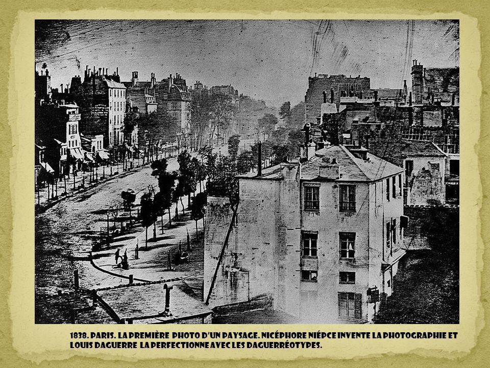 1838.Paris. la première photo dun paysage.