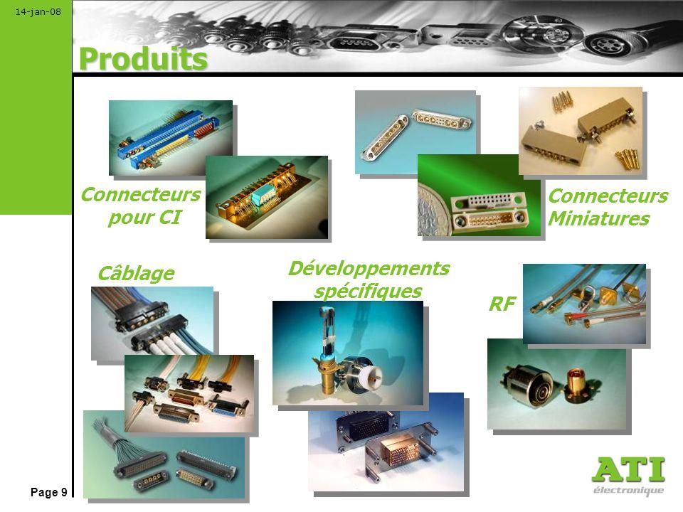 Page 10 14-jan-08 Connecteurs filtrés EMI Connecteurs blindés (suppriment leffet des interférences extérieures et réduisent les émissions de léquipement lui-même) équipés de contacs simples, filtrés C et LC, et de contacts coaxiaux.