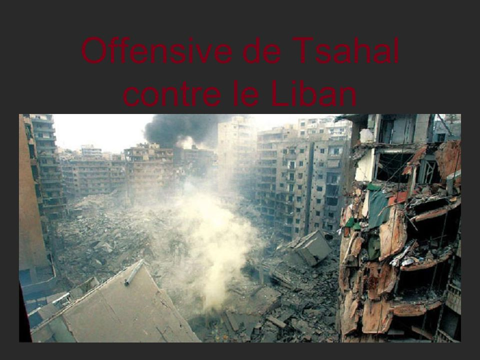 Offensive de Tsahal contre le Liban
