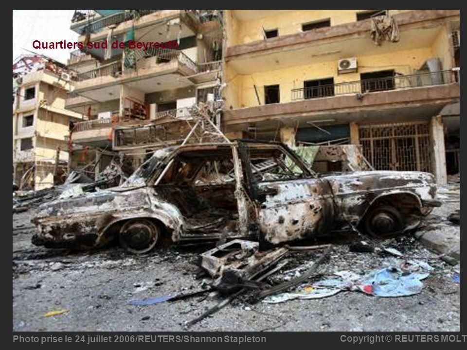 Quartiers sud de Beyrouth Photo prise le 24 juillet 2006/REUTERS/Shannon Stapleton Copyright © REUTERS MOLT