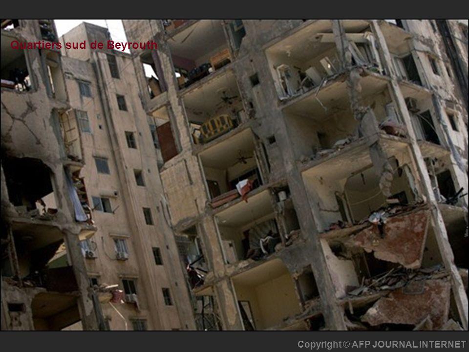 Copyright © AFP JOURNAL INTERNET Quartiers sud de Beyrouth