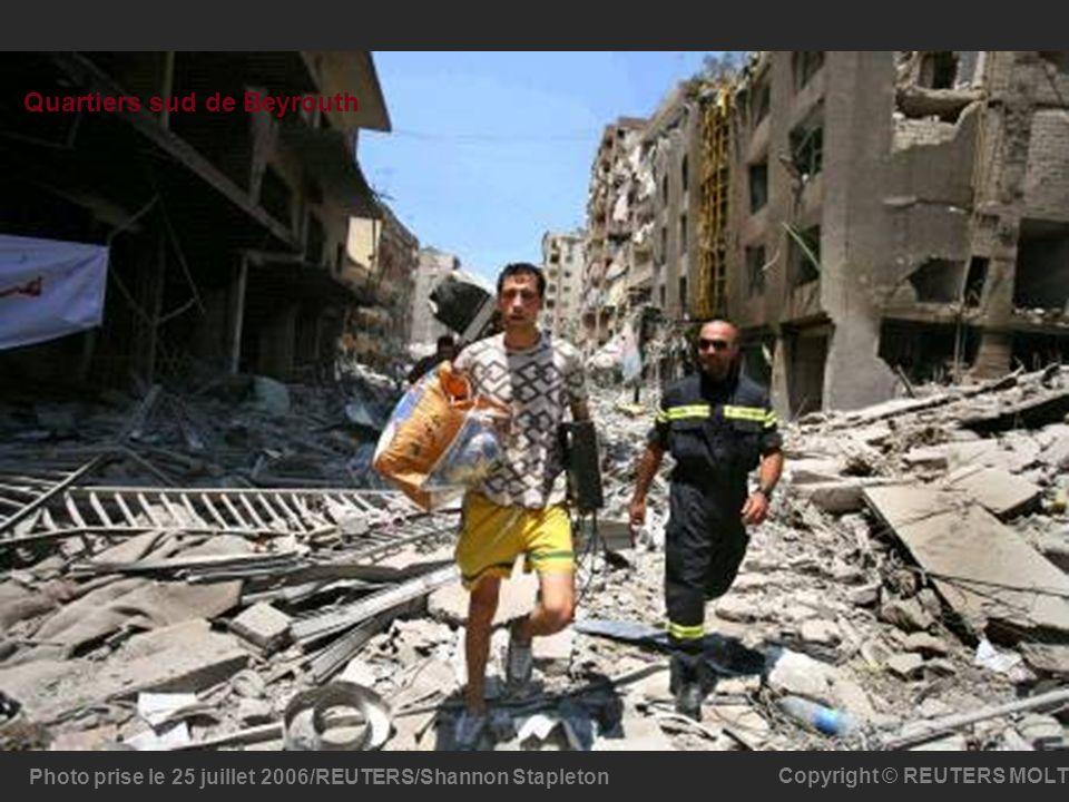 Photo prise le 25 juillet 2006/REUTERS/Shannon Stapleton Copyright © REUTERS MOLT Quartiers sud de Beyrouth