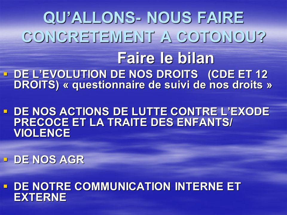 QUALLONS- NOUS FAIRE CONCRETEMENT A COTONOU.