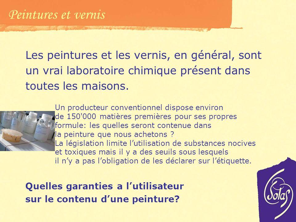 PEINTURES NATURELLES Les raisons dun choix. Vittorio Tamburrini