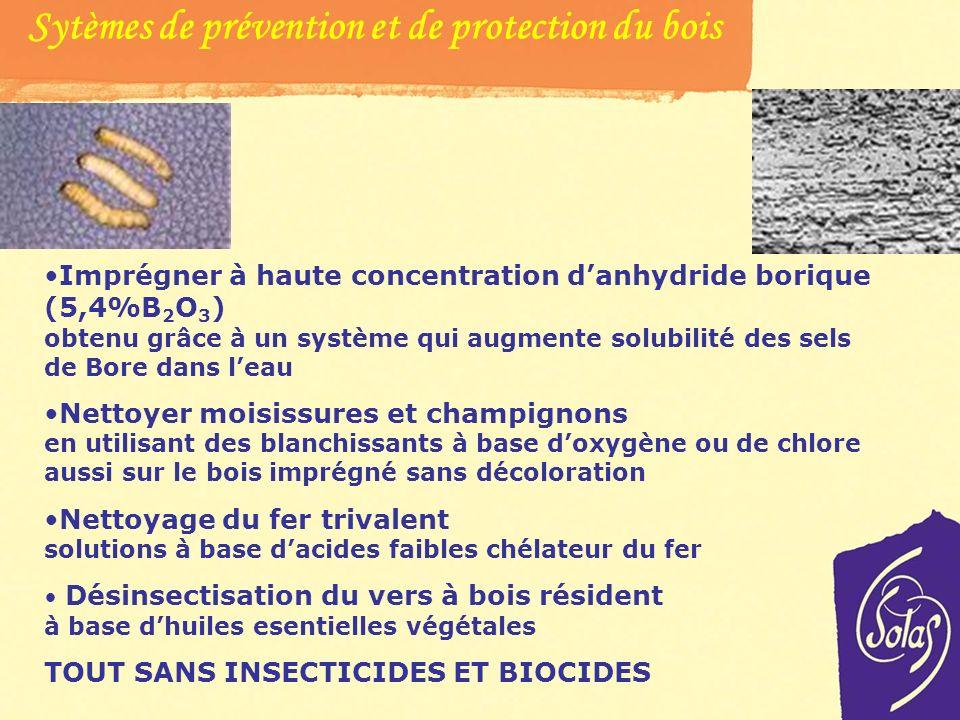 Sève et sels de bore Le bois est facilement attaqué par des organismes tels que moisissures, champignons et vers du bois en cas dhumidité. LES BACTERI