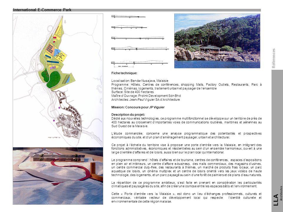 Fiche technique: Localisation: Bandar Nusajava, Malaisie Programme: Hôtels, Centres de conférences, shopping Malls, Factory Outlets, Restaurants, Parc