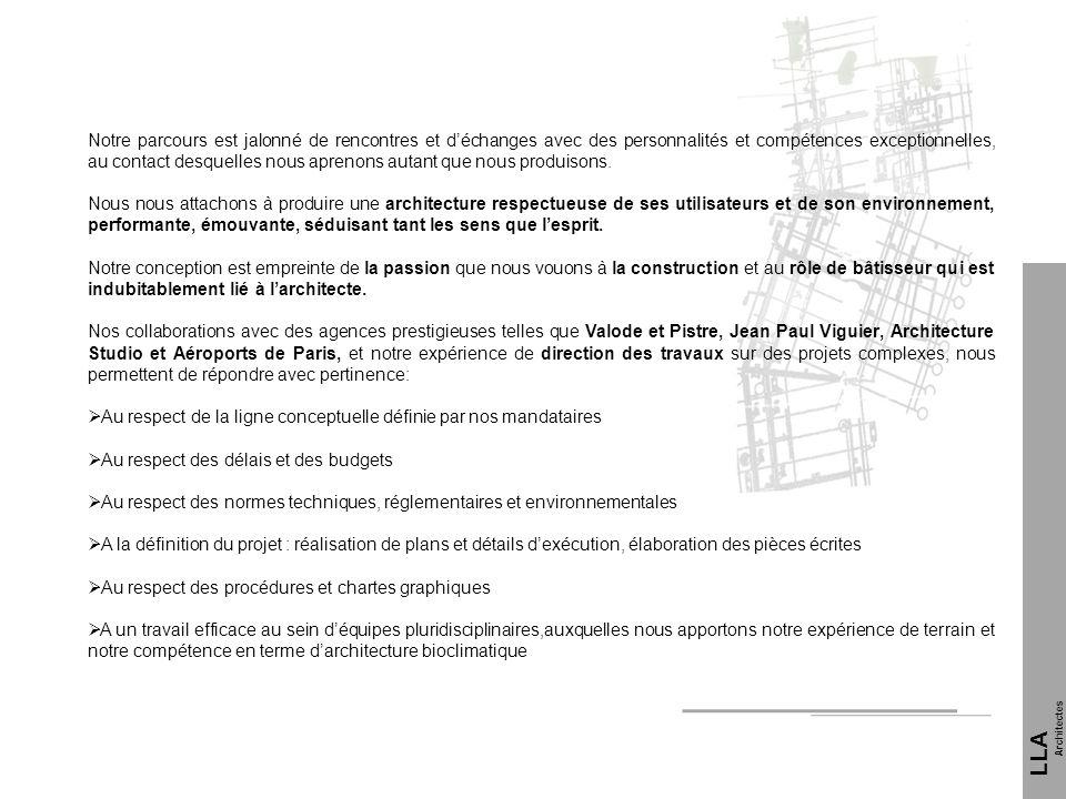Références LLA Architectes