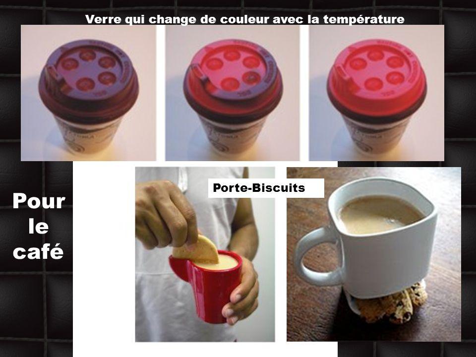 Pour le café Verre qui change de couleur avec la température Porte-Biscuits