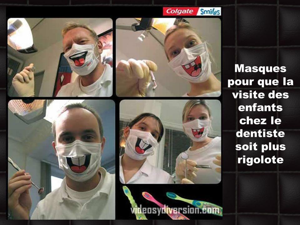 Masques pour que la visite des enfants chez le dentiste soit plus rigolote