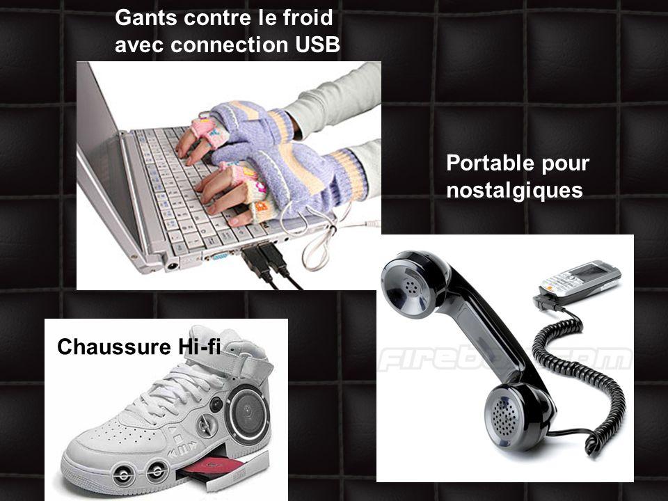 Gants contre le froid avec connection USB Chaussure Hi-fi Portable pour nostalgiques