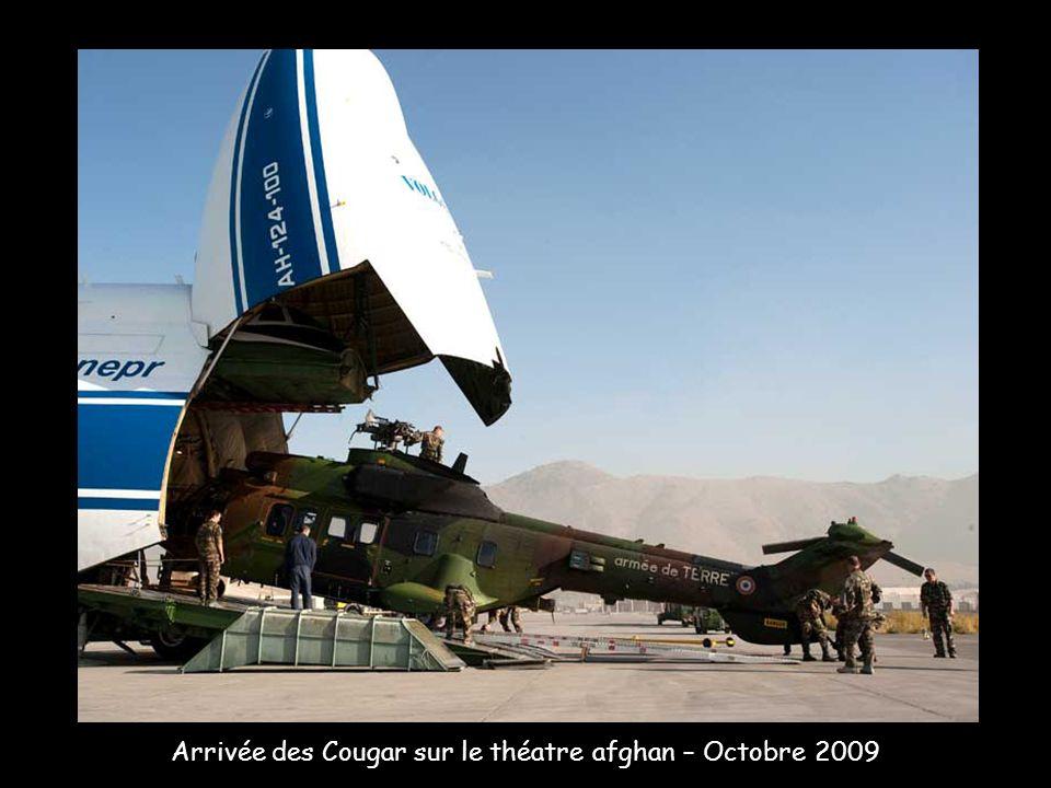 Arrivée des Cougar sur le théatre afghan – Octobre 2009