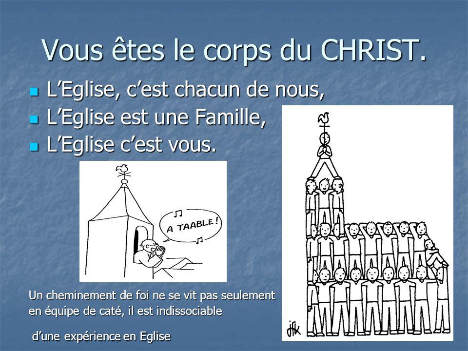 Vous êtes le corps du CHRIST. LEglise, cest chacun de nous, LEglise, cest chacun de nous, LEglise est une Famille, LEglise est une Famille, LEglise ce