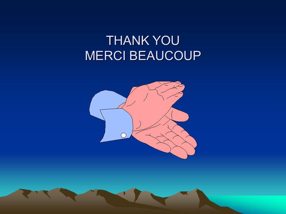 THANK YOU MERCI BEAUCOUP