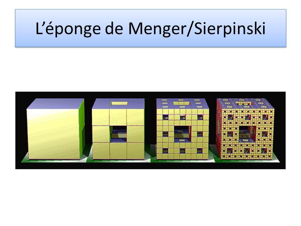 Léponge de Menger/Sierpinski