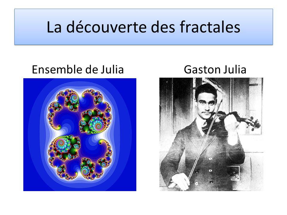 La découverte des fractales Ensemble de Julia Gaston Julia