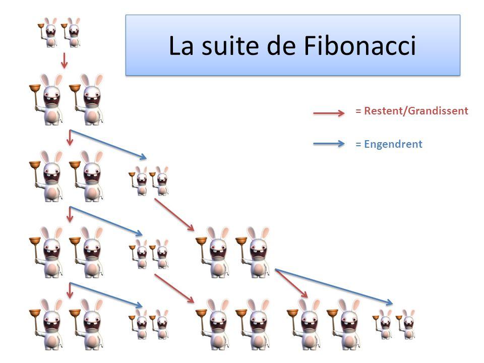 La suite de Fibonacci = Restent/Grandissent = Engendrent