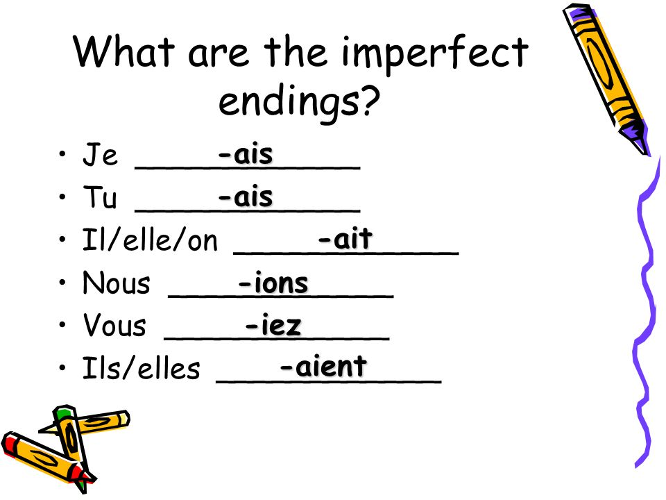 What are the imperfect endings.