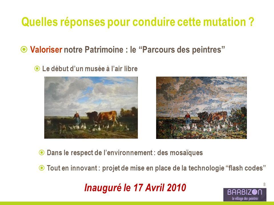 8 Valoriser notre Patrimoine : le Parcours des peintres Le début dun musée à lair libre Dans le respect de lenvironnement : des mosaïques Tout en inno