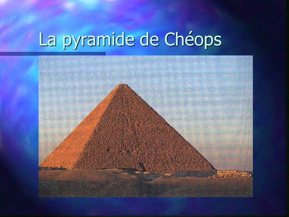 La pyramide de Chéops