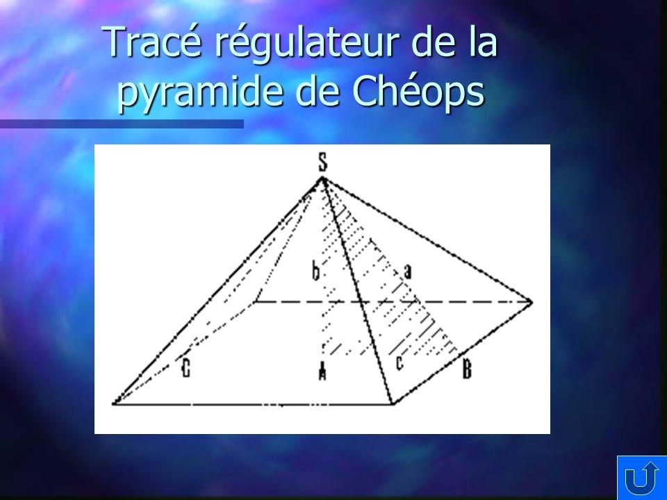 Tracé régulateur de la pyramide de Chéops