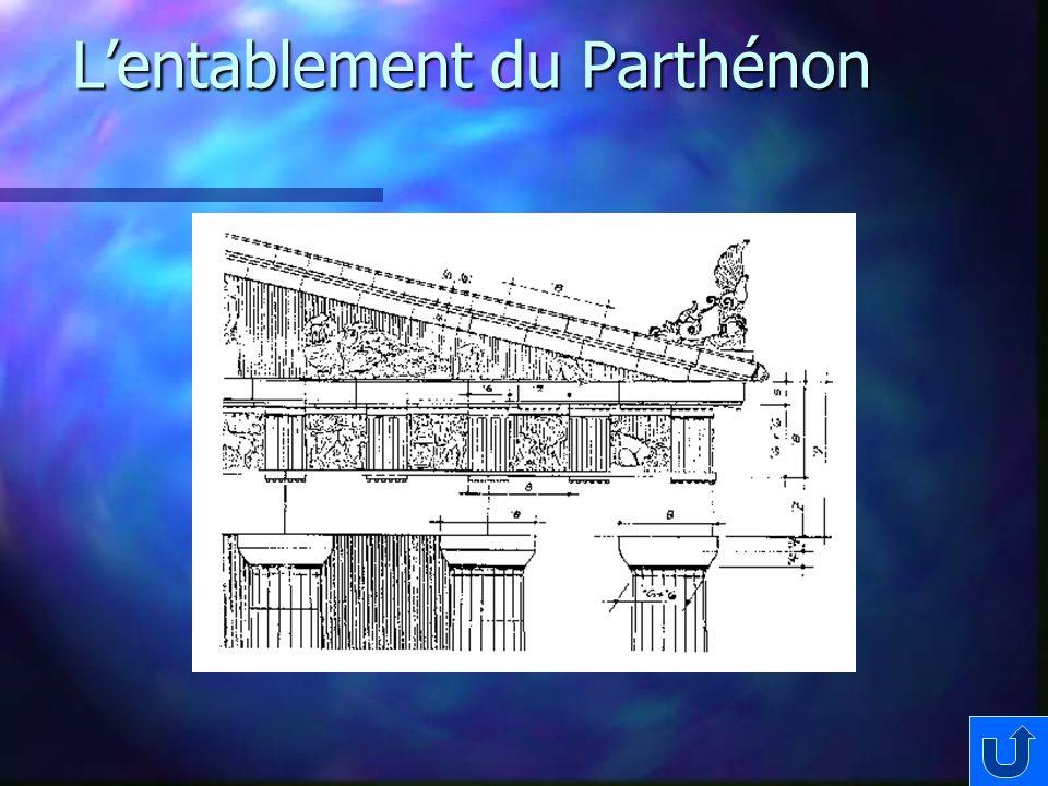 Lentablement du Parthénon