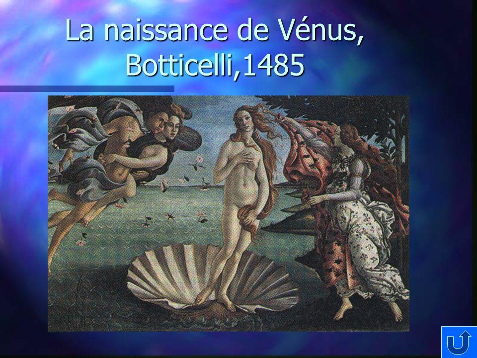 La naissance de Vénus, Botticelli,1485